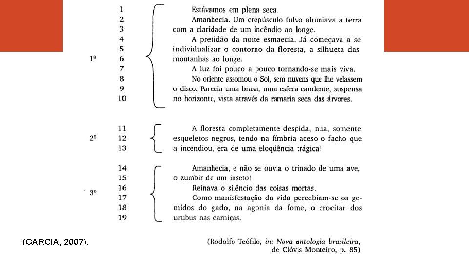 (GARCIA, 2007).