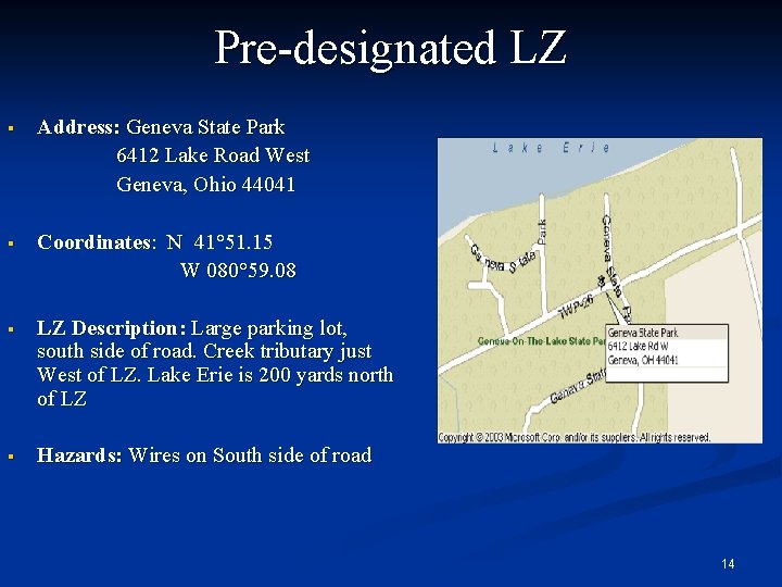 Reserve listing for LZ-