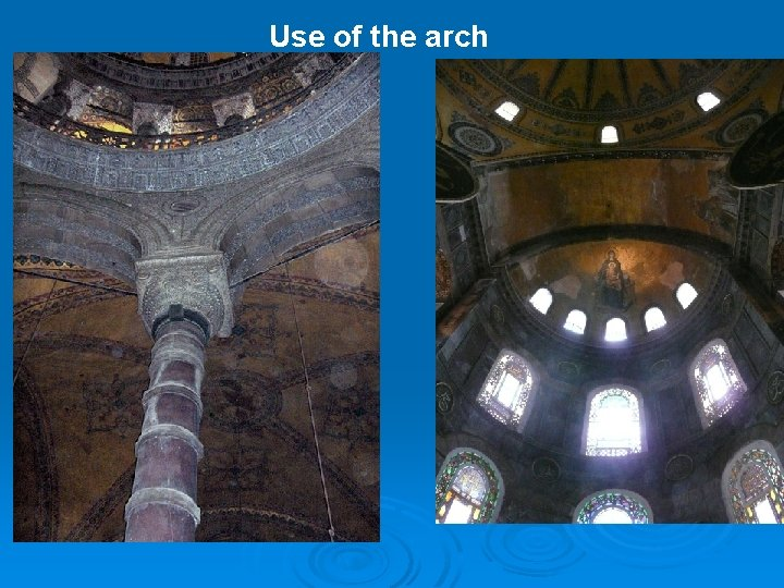 Use of the arch