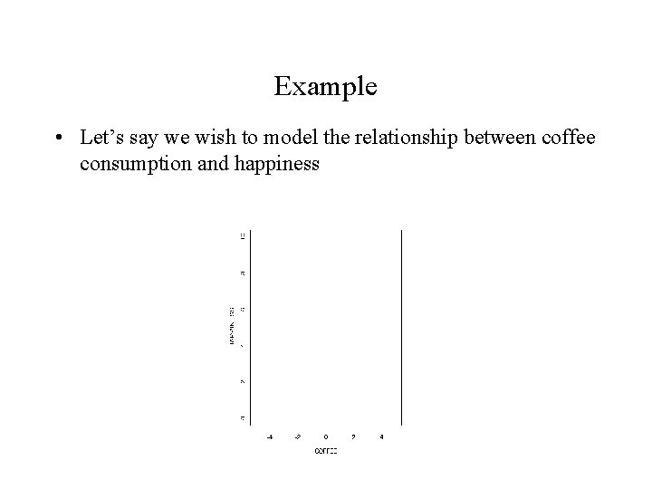 Example • Let's say we wish to model the relationship between coffee consumption and