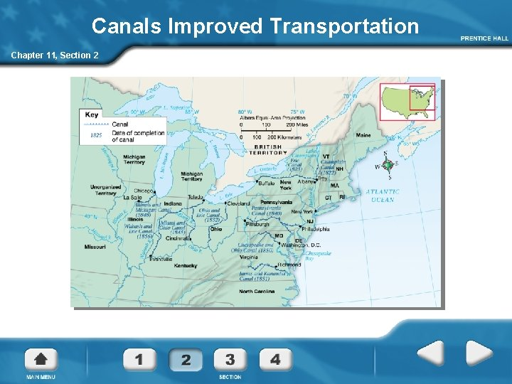 Canals Improved Transportation Chapter 11, Section 2