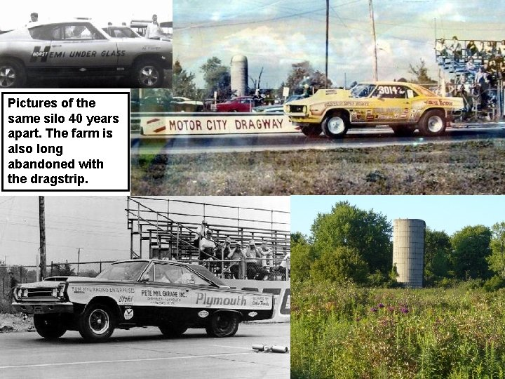 Pictures of the same silo 40 years apart. The farm is also long abandoned