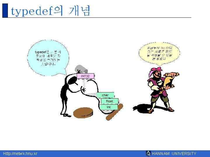 typedef의 개념 Http: //netwk. hnu. kr HANNAM UNIVERSITY