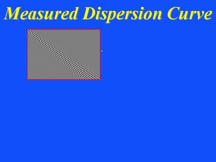 Measured Dispersion Curve K F-K transform w K K/w w Cphase = K Fund.