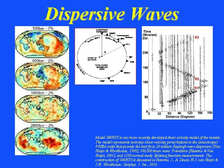 Dispersive Waves Model S 40 RTS is our more recently developed shear velocity model