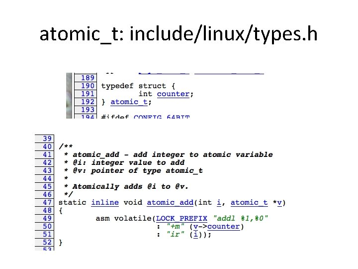 atomic_t: include/linux/types. h