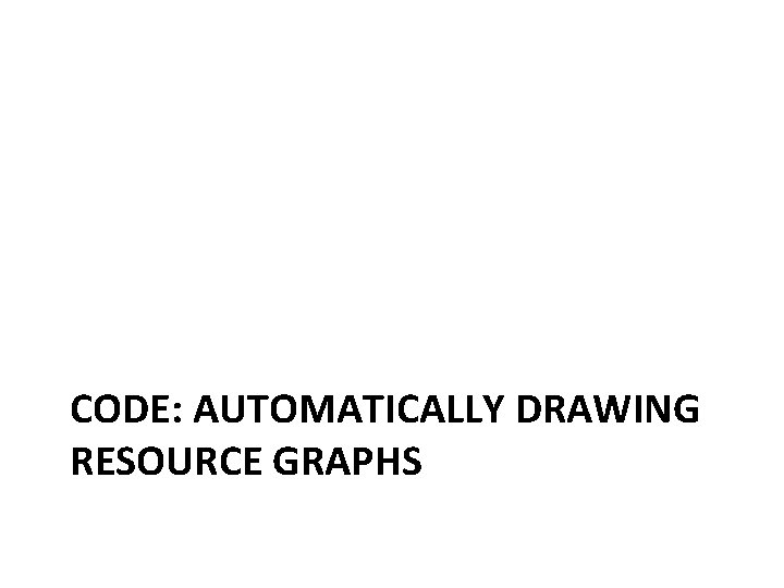 CODE: AUTOMATICALLY DRAWING RESOURCE GRAPHS