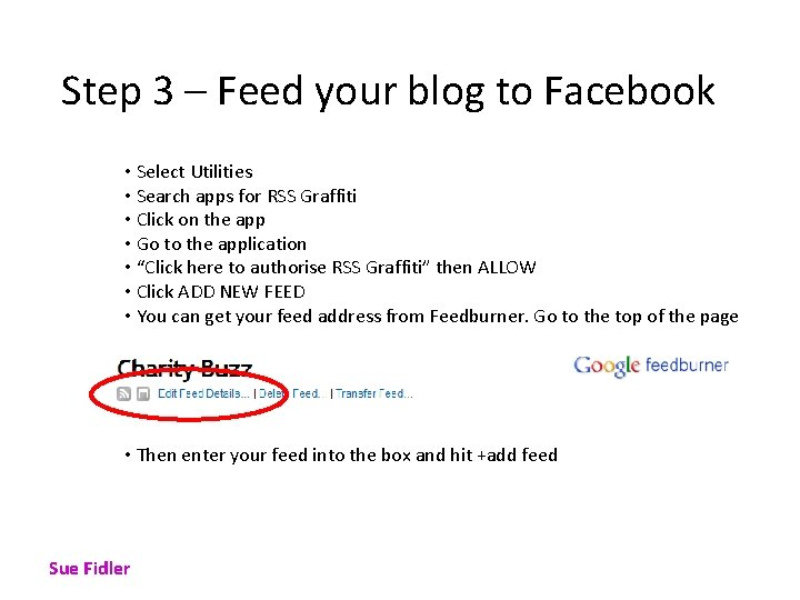 Step 3 – Feed your blog to Facebook • Select Utilities • Search apps