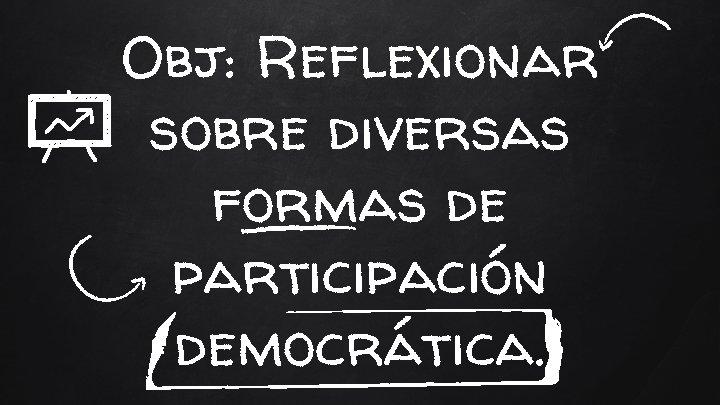 Obj: Reflexionar sobre diversas formas de participación democrática.