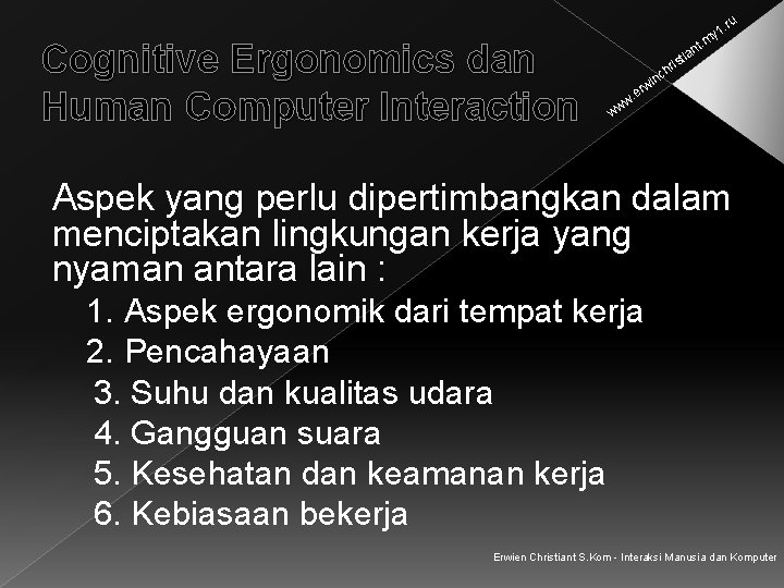 . ru Cognitive Ergonomics dan Human Computer Interaction y 1 t. m an sti