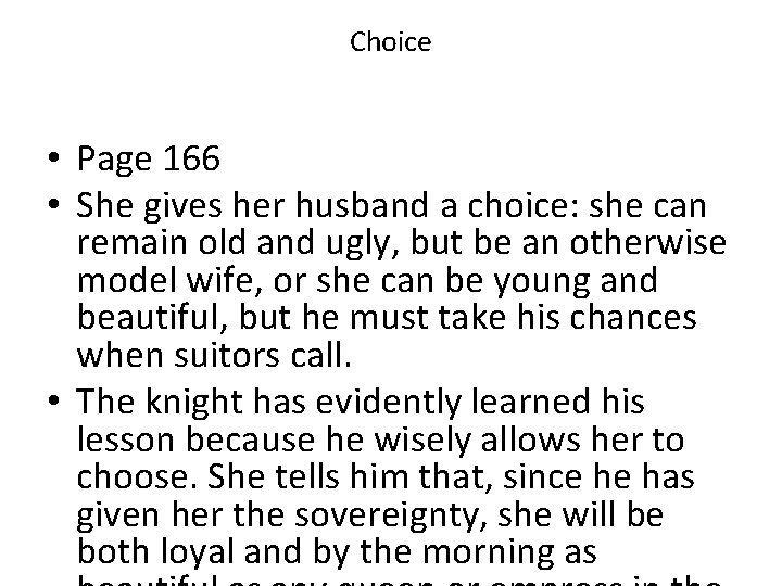 Choice • Page 166 • She gives her husband a choice: she can remain