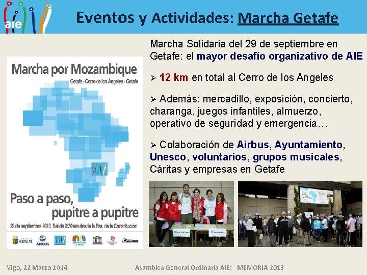 Eventos y Actividades: Marcha Getafe Marcha Solidaria del 29 de septiembre en Getafe: el