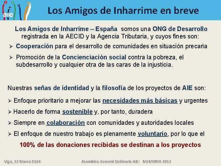 Los Amigos de Inharrime en breve Los Amigos de Inharrime – España somos una