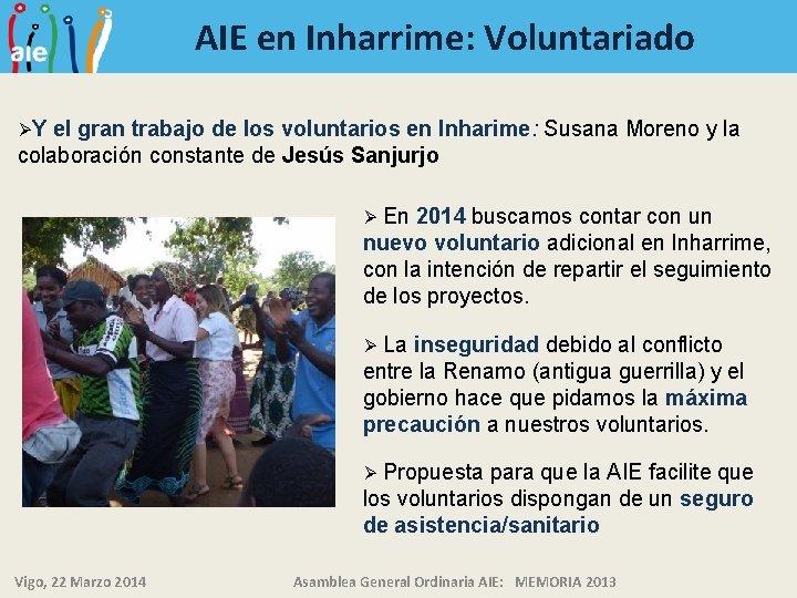AIE en Inharrime: Voluntariado ØY el gran trabajo de los voluntarios en Inharime: Susana