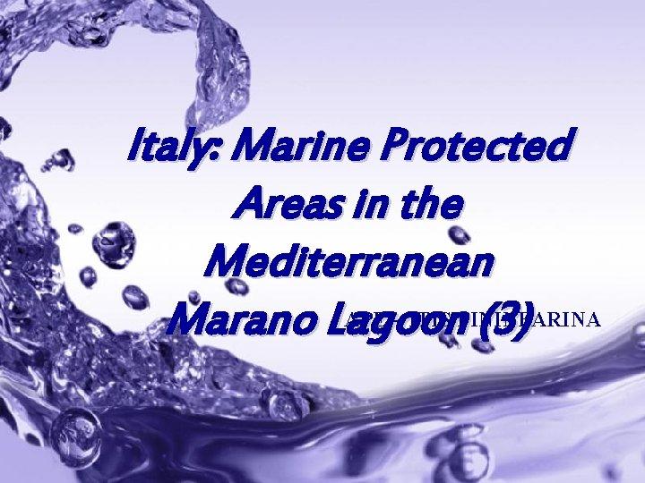 Italy: Marine Protected Areas in the Mediterranean APE – ITIS PININFARINA Marano Lagoon (3)