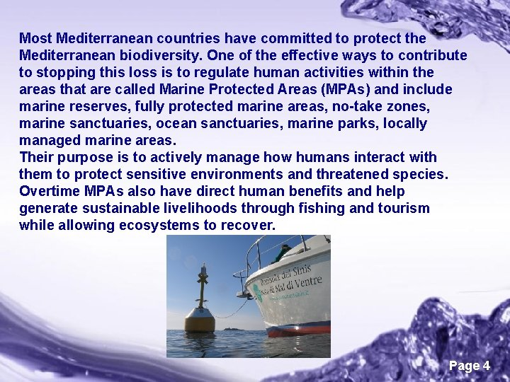 Most Mediterranean countries have committed to protect the Mediterranean biodiversity. One of the effective