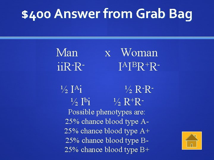 $400 Answer from Grab Bag Man ii. R-R½ IA i ½ I bi x