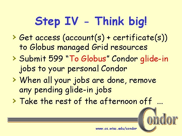 Step IV - Think big! › Get access (account(s) + certificate(s)) › › ›