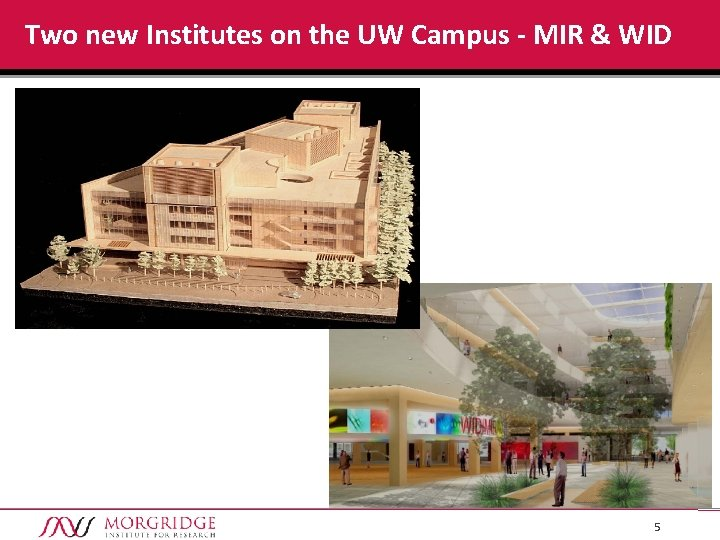 Two new Institutes on the UW Campus - MIR & WID 5