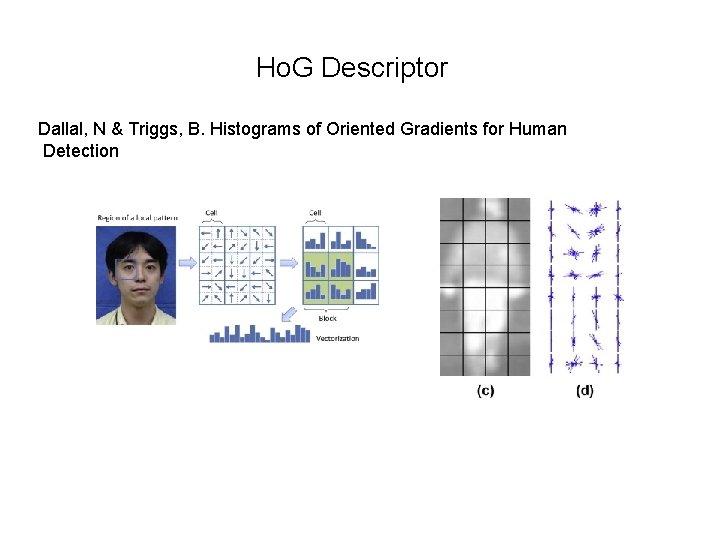 Ho. G Descriptor Dallal, N & Triggs, B. Histograms of Oriented Gradients for Human