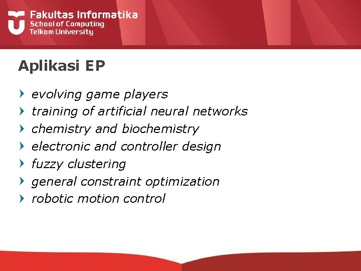 Aplikasi EP evolving game players training of artificial neural networks chemistry and biochemistry electronic