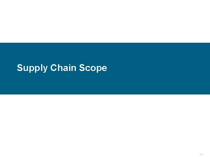 Supply Chain Scope Confidential 29