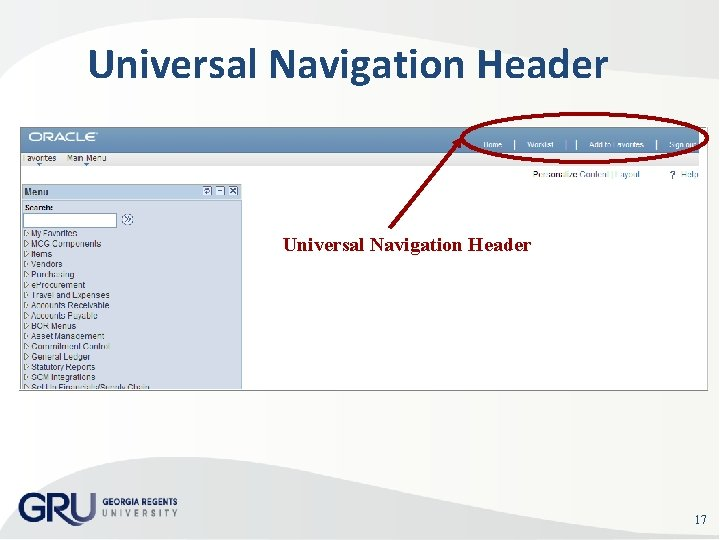 Universal Navigation Header 17
