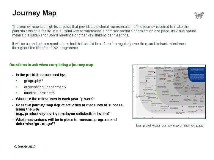 Journey Map The journey map is a high level guide that provides a pictorial