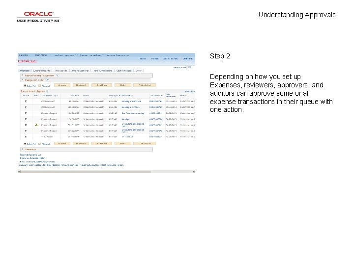 Understanding Approvals Step 2 Depending on how you set up Expenses, reviewers, approvers, and