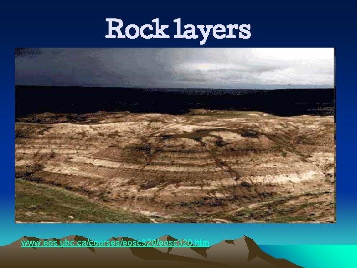 Rock layers www. eos. ubc. ca/courses/eosc 320. htm