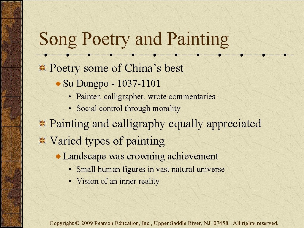 Song Poetry and Painting Poetry some of China's best Su Dungpo - 1037 -1101