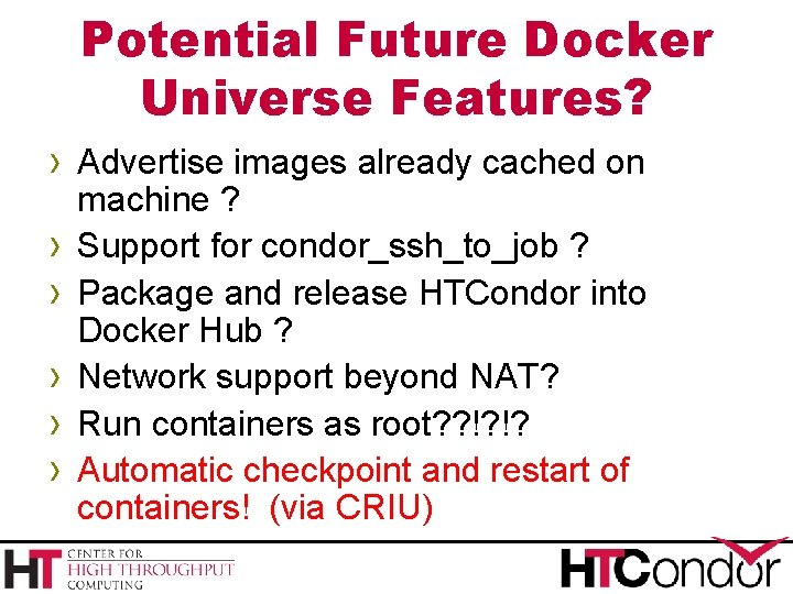 Potential Future Docker Universe Features? › Advertise images already cached on › › ›