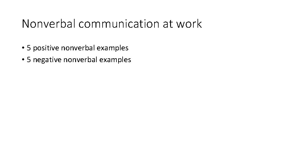 Communication nonverbal 5 of examples 5 Functions