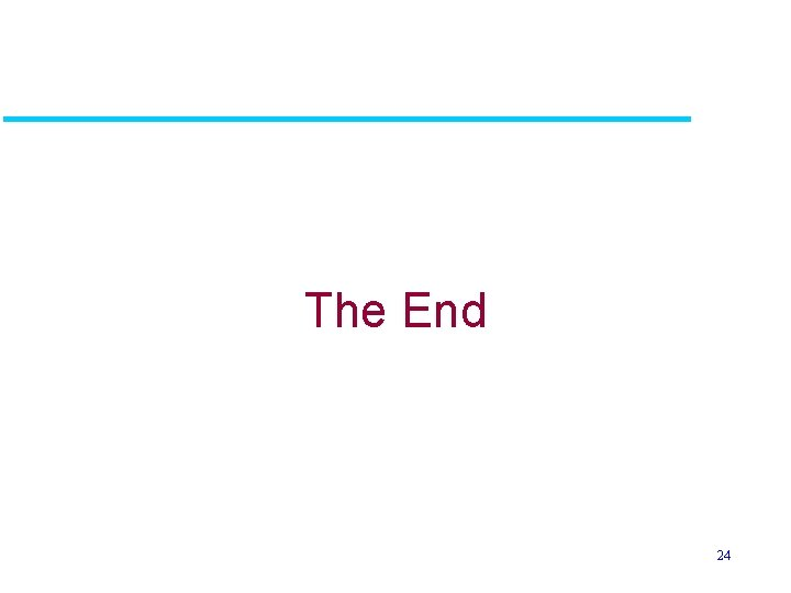 The End 24