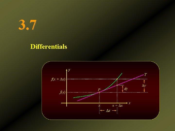 3. 7 Differentials