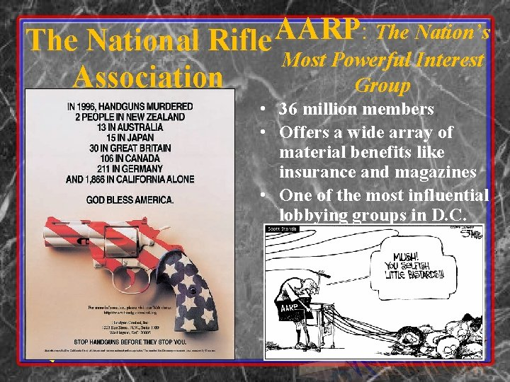 AARP : The Nation's The National Rifle Most Powerful Interest Association Group • 36