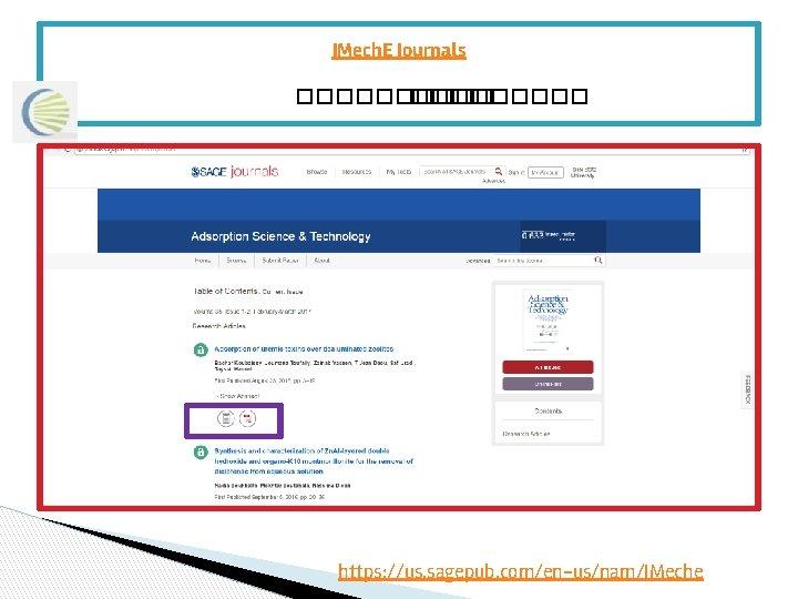IMech. E Journals ����� https: //us. sagepub. com/en-us/nam/IMeche