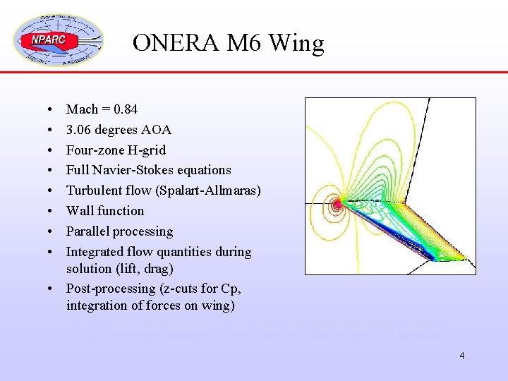 ONERA M 6 Wing • • Mach = 0. 84 3. 06 degrees AOA