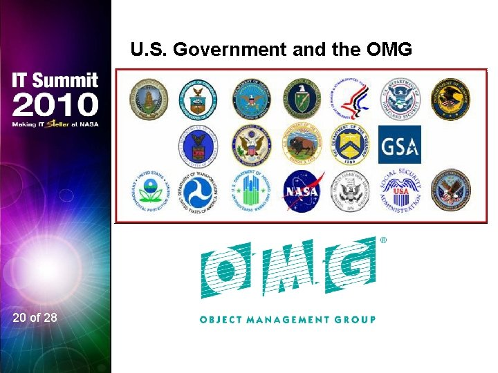 U. S. Government and the OMG 20 of 28