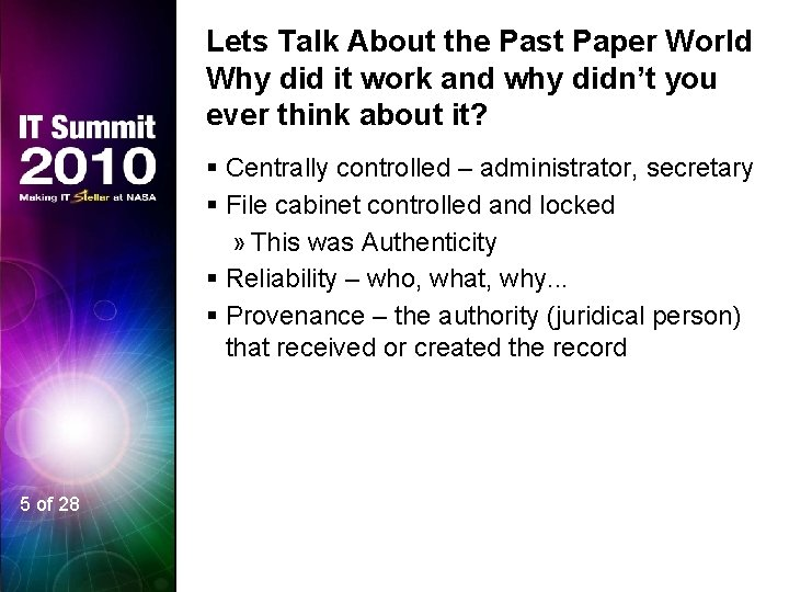 Lets Talk About the Past Paper World Why did it work and why didn't