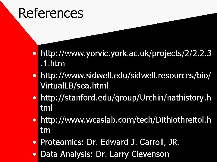 References • http: //www. yorvic. york. ac. uk/projects/2/2. 2. 3. 1. htm • http:
