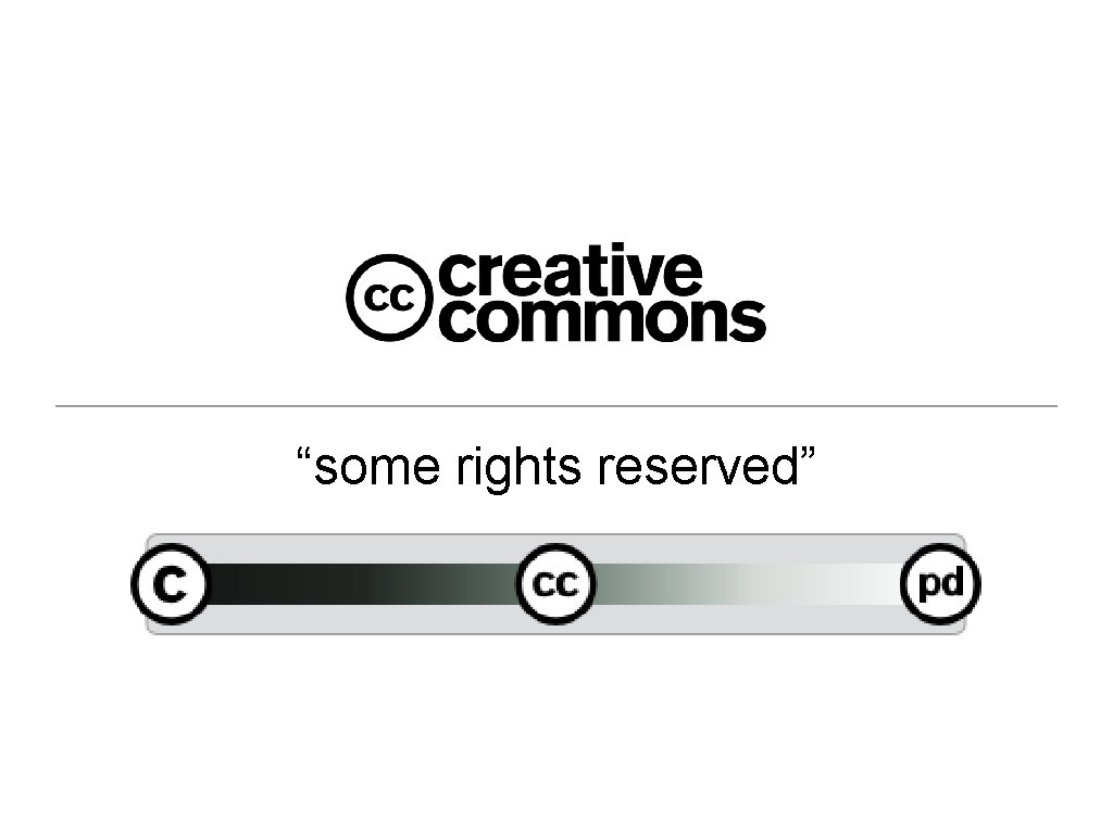 """""""some rights reserved"""""""