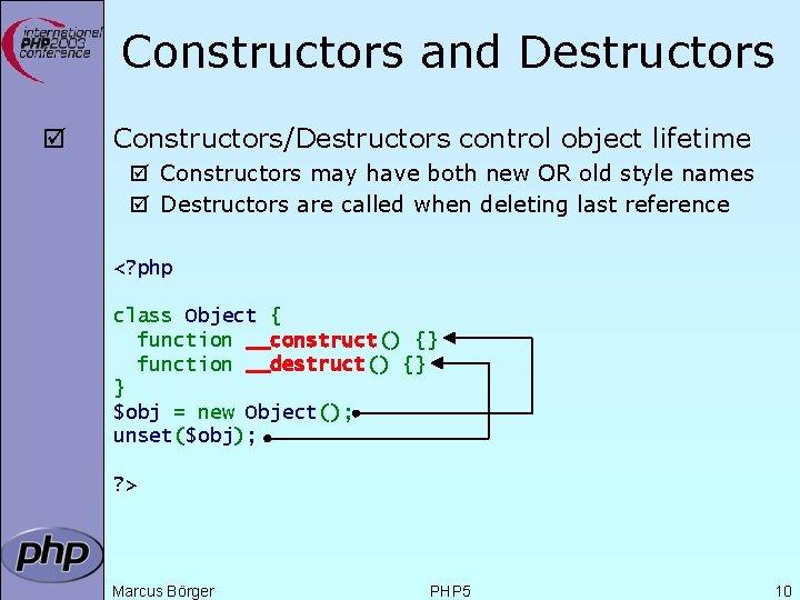 Constructors and Destructors þ Constructors/Destructors control object lifetime þ Constructors may have both new