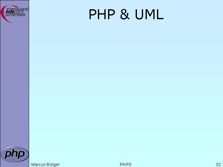 PHP & UML Marcus Börger PHP 5 32