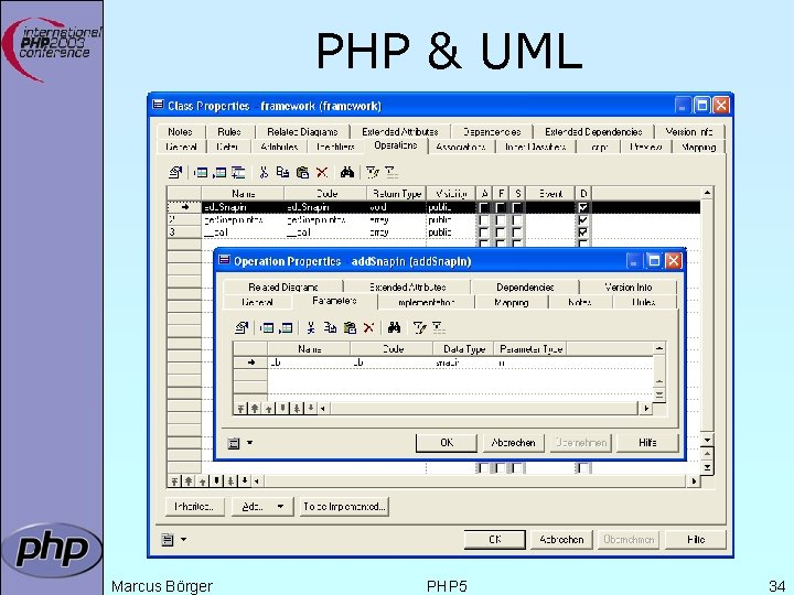 PHP & UML Marcus Börger PHP 5 34