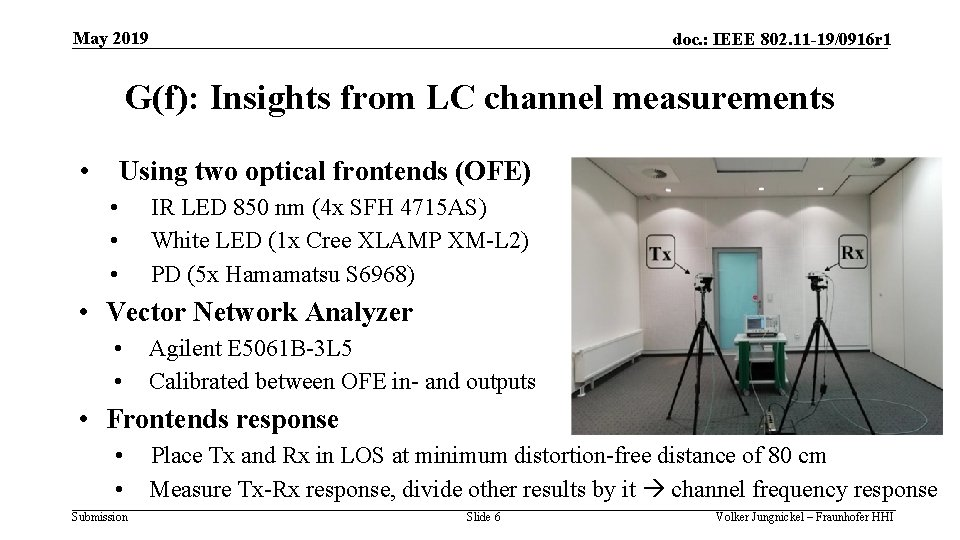 May 2019 doc. : IEEE 802. 11 -19/0916 r 1 G(f): Insights from LC