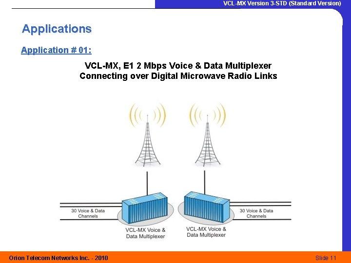 VCL-MX Version 3 -STD (Standard Version) Applications Application # 01: VCL-MX, E 1 2