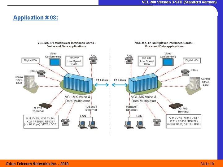 VCL-MX Version 3 -STD (Standard Version) Application # 08: Orion Telecom Networks Inc. -