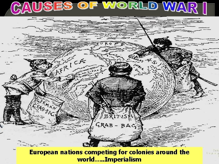 European nations competing for colonies around the world…. . Imperialism Cartoo European gr b