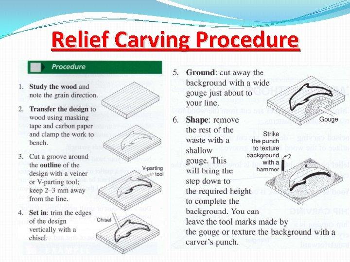 Relief Carving Procedure